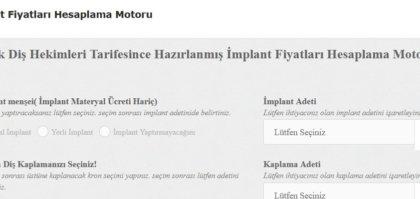 implant fiyatları hesaplama